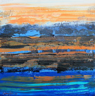 Mirage by Andrew, Abstract Painting, Oil & Acrylic on Canvas, Blue color
