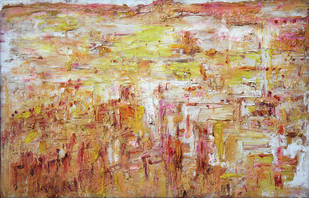 UNTITLED_203 by Nand Katyal, Abstract Painting, Oil on Canvas, Brown color