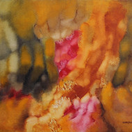 19046    bhanu shah    raga    oil on canvas  32 x 39  inches    l.r.in english    2011 cs