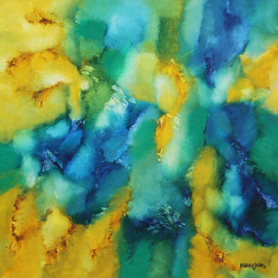RAGINI by Bhanu Shah, Abstract Painting, Oil on Canvas, Green color