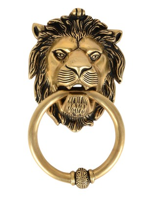 Brass Lion Door Knocker Accessories By IMLI STREET