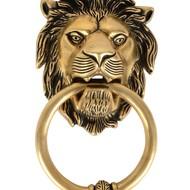 Brass Lion Door Knocker Accessories By IMLI STREET