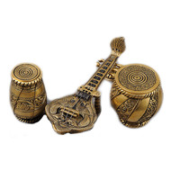 Sitar Tabla Dugi (Set of 3) 7in x 2.5in x 2.2in Accessories By IMLI STREET