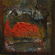 Untitled by Tapas Ghosal, Abstract Painting, Oil on Canvas, Brown color