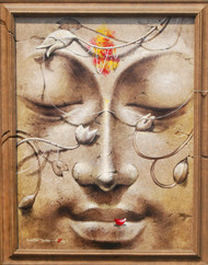 Yug-purush by Sanatan Dinda, Decorative Painting, Acrylic on Canvas, Brown color