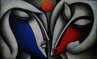 Untitled by Jagannath Paul, Expressionism Painting, Acrylic on Canvas, Gray color