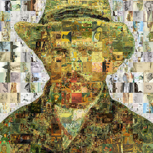Van gough by Saptarshi Das, Pop Art Digital Art, Digital Print on Paper, Beige color