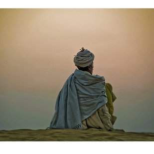Desert Solitude 2 by Ramona Singh, Image Photography, Digital Print on Archival Paper, Beige color