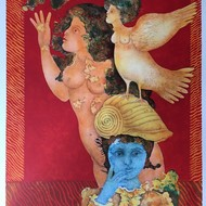 Sakti burman litho 09 29 x 21 inches edition of 140 inr 41000