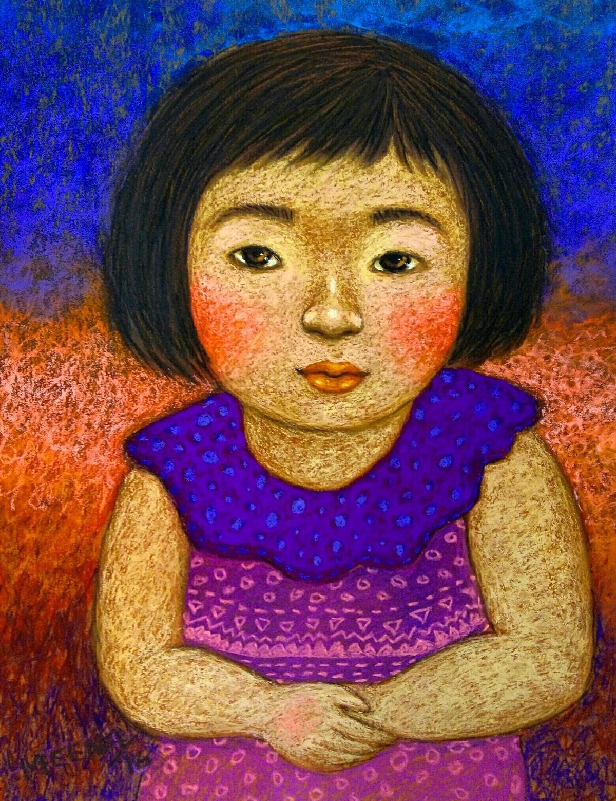 Innocent Look 2 Digital Print by Meena Laishram,Expressionism