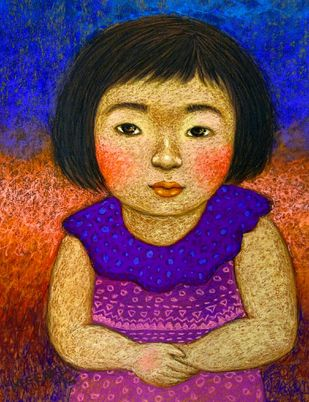 Innocent Look 2 Digital Print by Meena Laishram,Expressionism