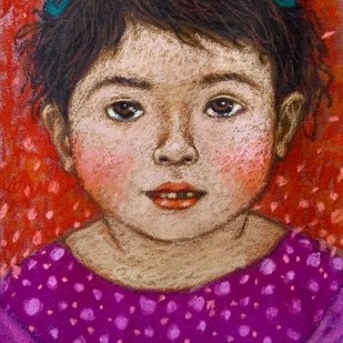 Innocent Look 3 Digital Print by Meena Laishram,Expressionism