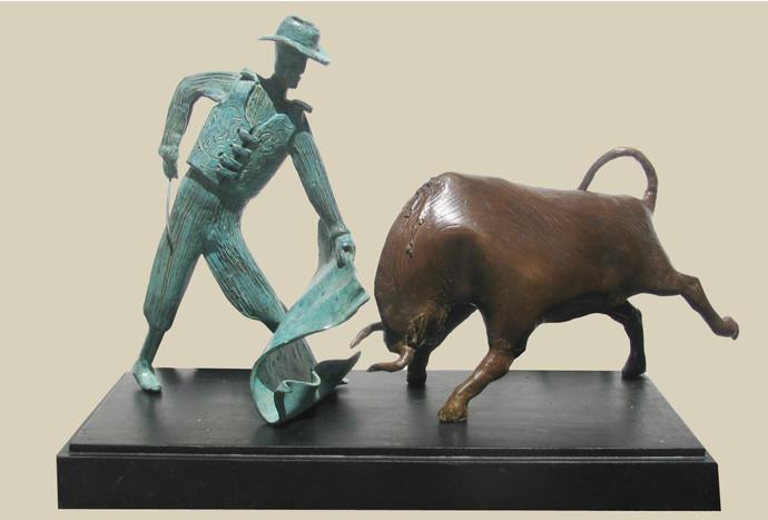 GAME by Subrata Paul, Decorative Sculpture | 3D, Bronze, Beige color