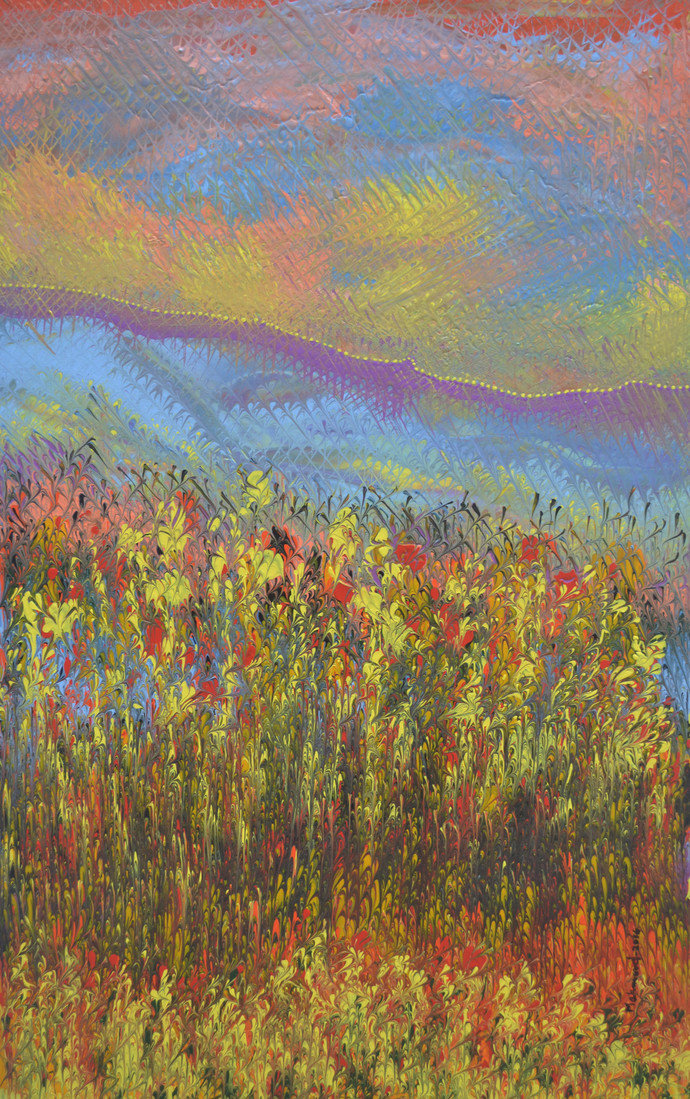 Landscape Digital Print by Mahmood Ahmad,Impressionism