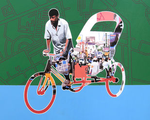 Untitled 30 by Sanjay Verma, Decorative Painting, Acrylic on Canvas, Green color