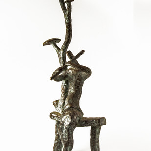 Flute Player by Tushar Kanti Das Roy, Decorative, Decorative Sculpture | 3D, Bronze, White color