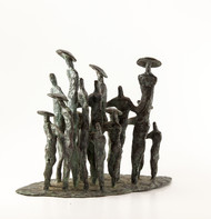 Gathering-1 by Tushar Kanti Das Roy, Decorative, Impressionism Sculpture | 3D, Bronze, White color