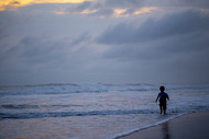 The Ocean's Child by Siddhant, Image Photography, Digital Print on Paper, Blue color