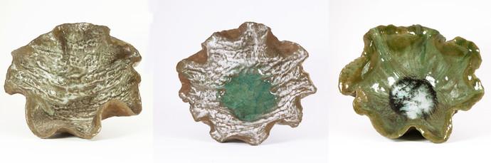 Bowls-3 by Milan SIngh, Decorative Sculpture | 3D, Ceramic, Beige color