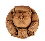 Platter-1 by Laxma Goud, Decorative Sculpture | 3D, Ceramic, Brown color