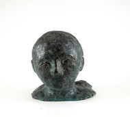 head-2 by Maite Delteil, Expressionism Sculpture | 3D, Bronze, White color