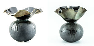 Vases - 2 by Milan SIngh, Decorative Sculpture | 3D, Ceramic, White color