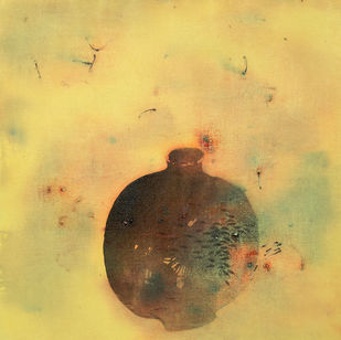 untitled 1116 by Arvind Patel, Minimalism Painting, Acrylic on Canvas, Beige color
