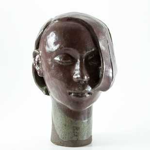 Head-3 by Prasenjit Sengupta, Expressionism Sculpture | 3D, Ceramic, White color