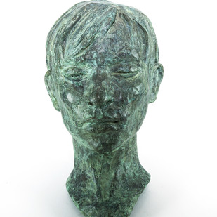 Head-2 by Prasenjit Sengupta, Expressionism Sculpture | 3D, Bronze, White color
