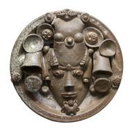 Platter-2 by Laxma Goud, Decorative Sculpture | 3D, Ceramic, Brown color