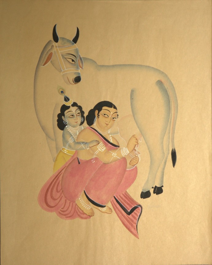 Krishna as a Child By KALAM PATUA