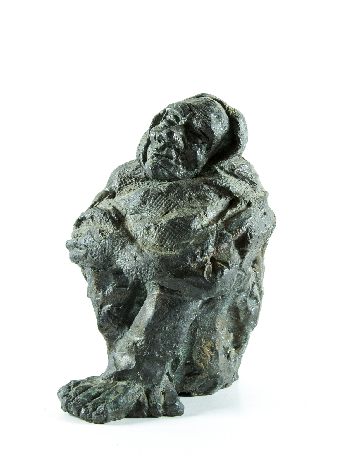 In the cold by Debabrata De, Expressionism Sculpture | 3D, Ceramic, White color