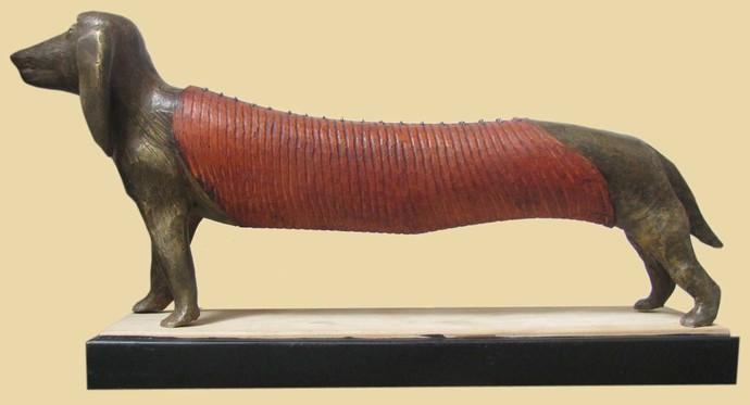 PET by Subrata Paul, Decorative Sculpture | 3D, Mixed Media, Beige color