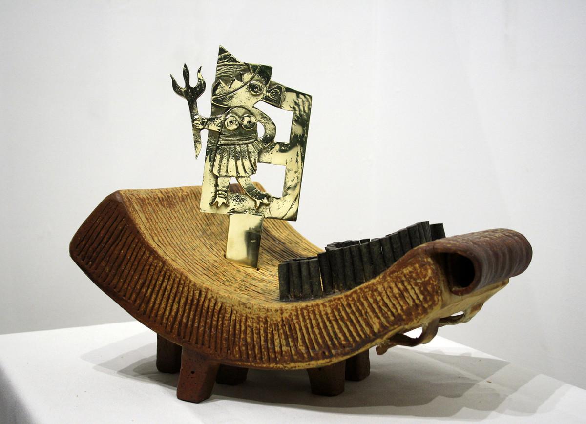 MELANGE by Srinia Chowdhury, Conceptual Sculpture | 3D, Ceramic, Gray color