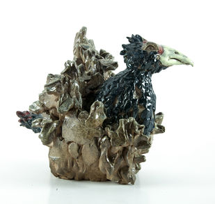 The Bird by Kim Do Jin, Decorative Sculpture | 3D, Ceramic, White color