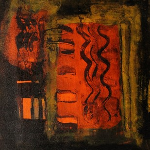 Untitled by Sanjay Kumar Singh, Abstract Painting, Acrylic on Canvas, Brown color