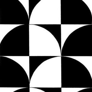 Monochrome Patterns 9 Digital Print by Marie, Natasha,Abstract