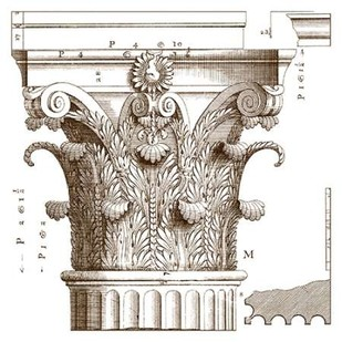Small Corinthian Detail II Digital Print by Vision Studio,Geometrical