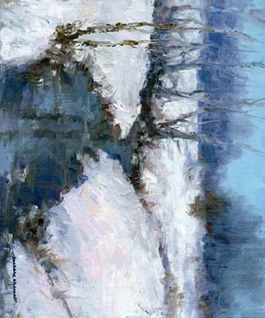 Winter White Digital Print by Chenault, Barbara,Abstract, Impressionism