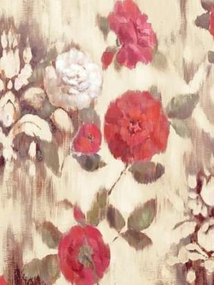 Ikat Rose II Digital Print by Cohen, Marietta,Impressionism
