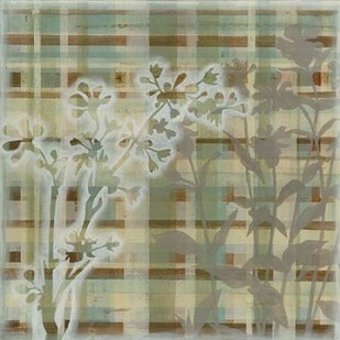 Tartan Floral I Digital Print by Meagher, Megan,Decorative