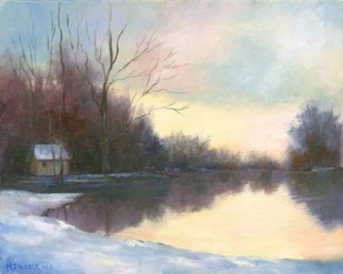 Winter Glow Digital Print by Weber, Mary Jean,Impressionism