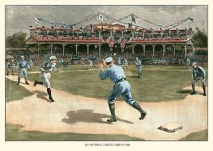 National League Game 1886 Digital Print by Snyder,Realism