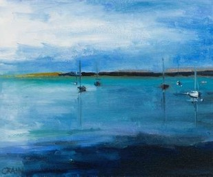 White Fish Bay Digital Print by Crain, Curt,Impressionism