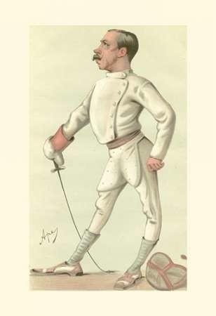 Vanity Fair Fencing Digital Print by Spy,Realism