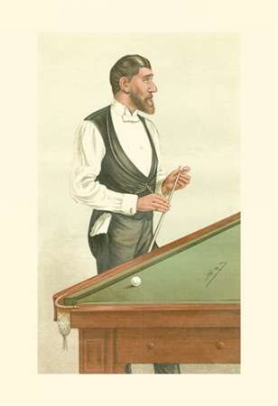 Vanity Fair Billiards Digital Print by Spy,Realism