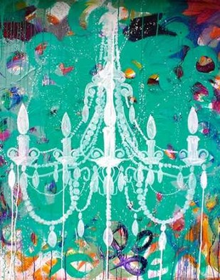 Emerald Chandelier Digital Print by Youngstrom, Kent,Expressionism