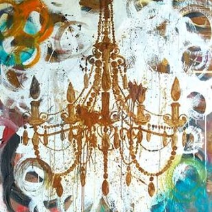 Rust Chandelier Digital Print by Youngstrom, Kent,Expressionism