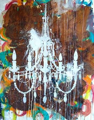 White Chandelier Digital Print by Youngstrom, Kent,Expressionism, Expressionism