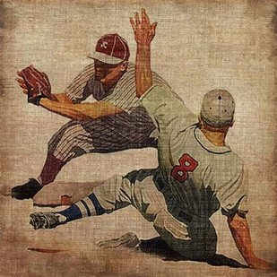 Vintage Sports VII Digital Print by Butler, John,Realism